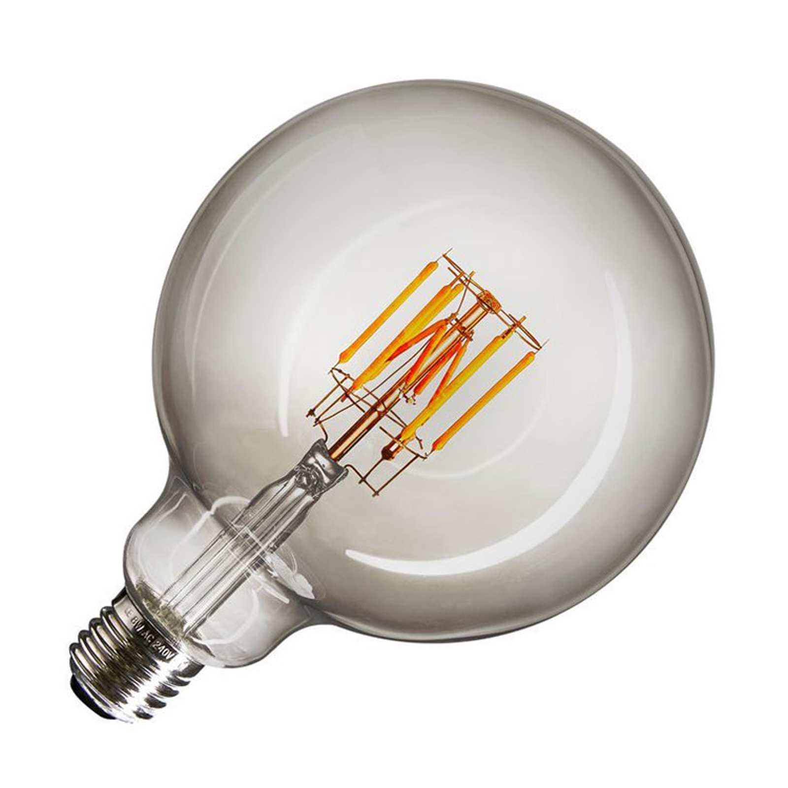 SLV LED-Globe E27 8W G125 Ra90 smoke dim-to-warm