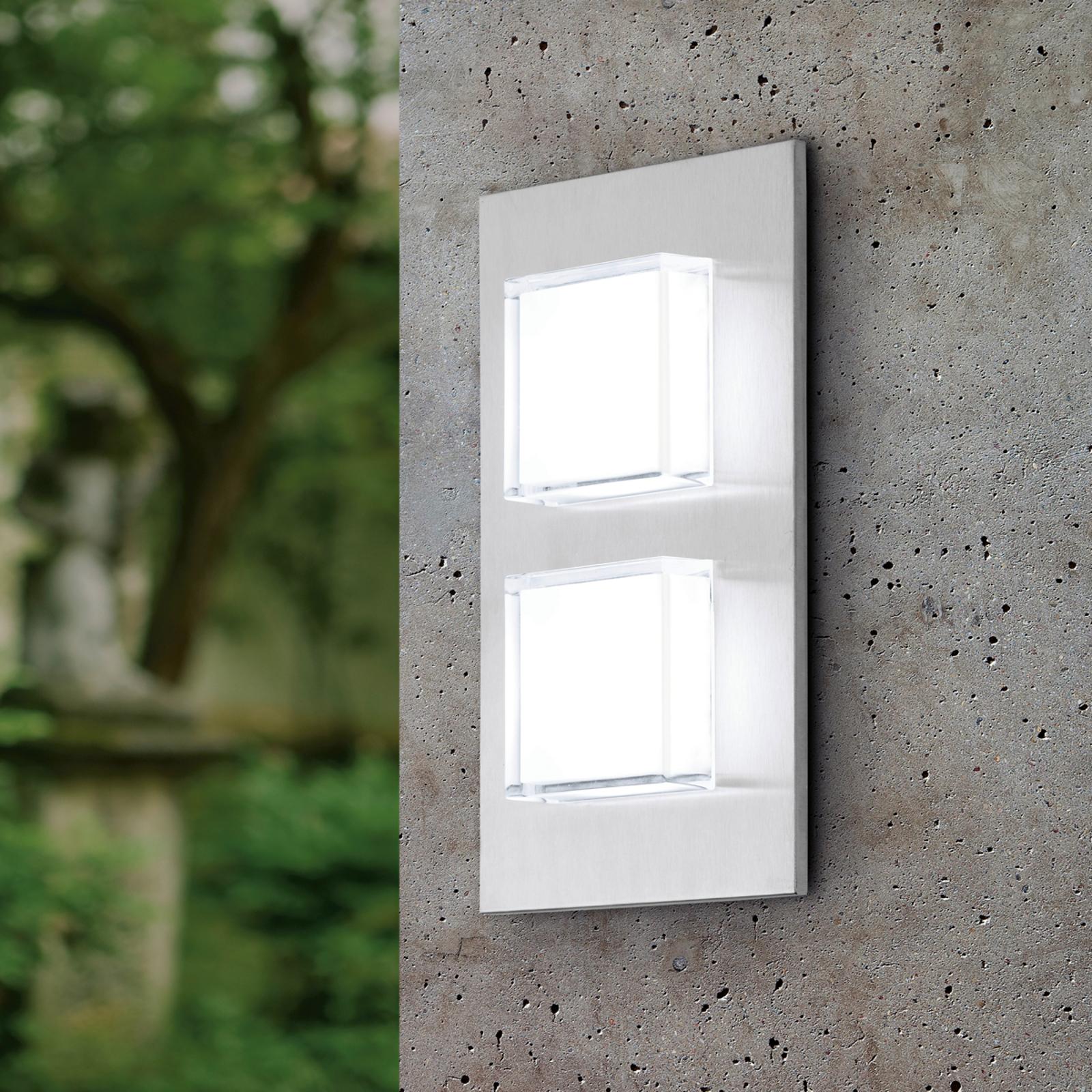 Dwupunktowa zewnętrzna lampa ścienna LED Pias
