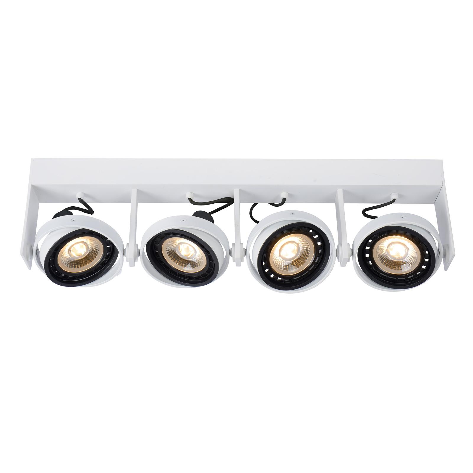 LED-Deckenstrahler Griffon weiß, vierflammig