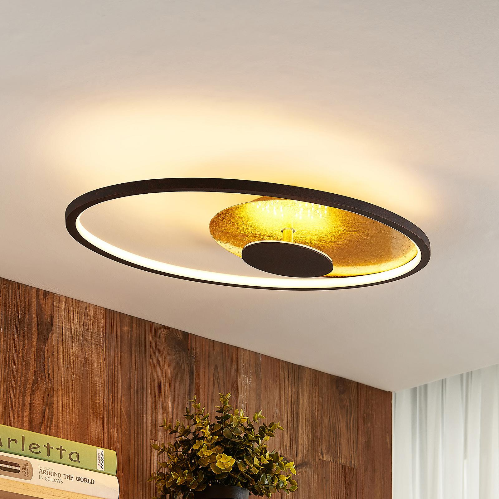 Lindby Fevial LED-taklampa, 61 cm x 36 cm