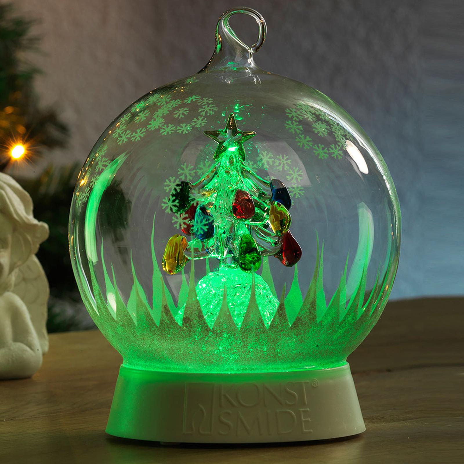 LED-Dekoleuchte Glaskugel Weihnachtsbaum