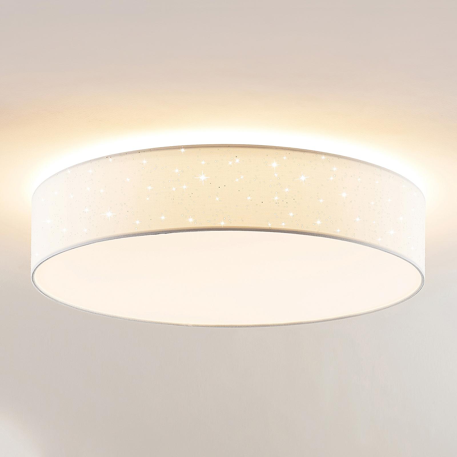 Lindby Ellamina lampa sufitowa LED 60 cm, biała