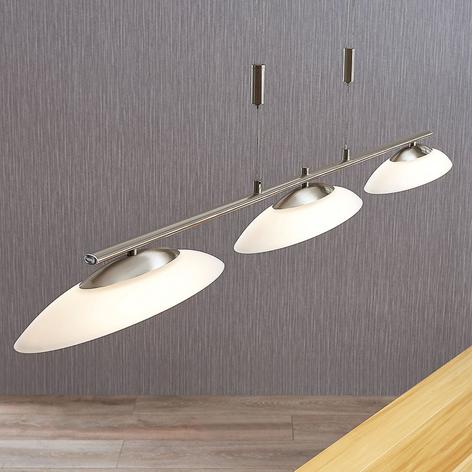 Judie - Suspension LED à trois lampes et variateur