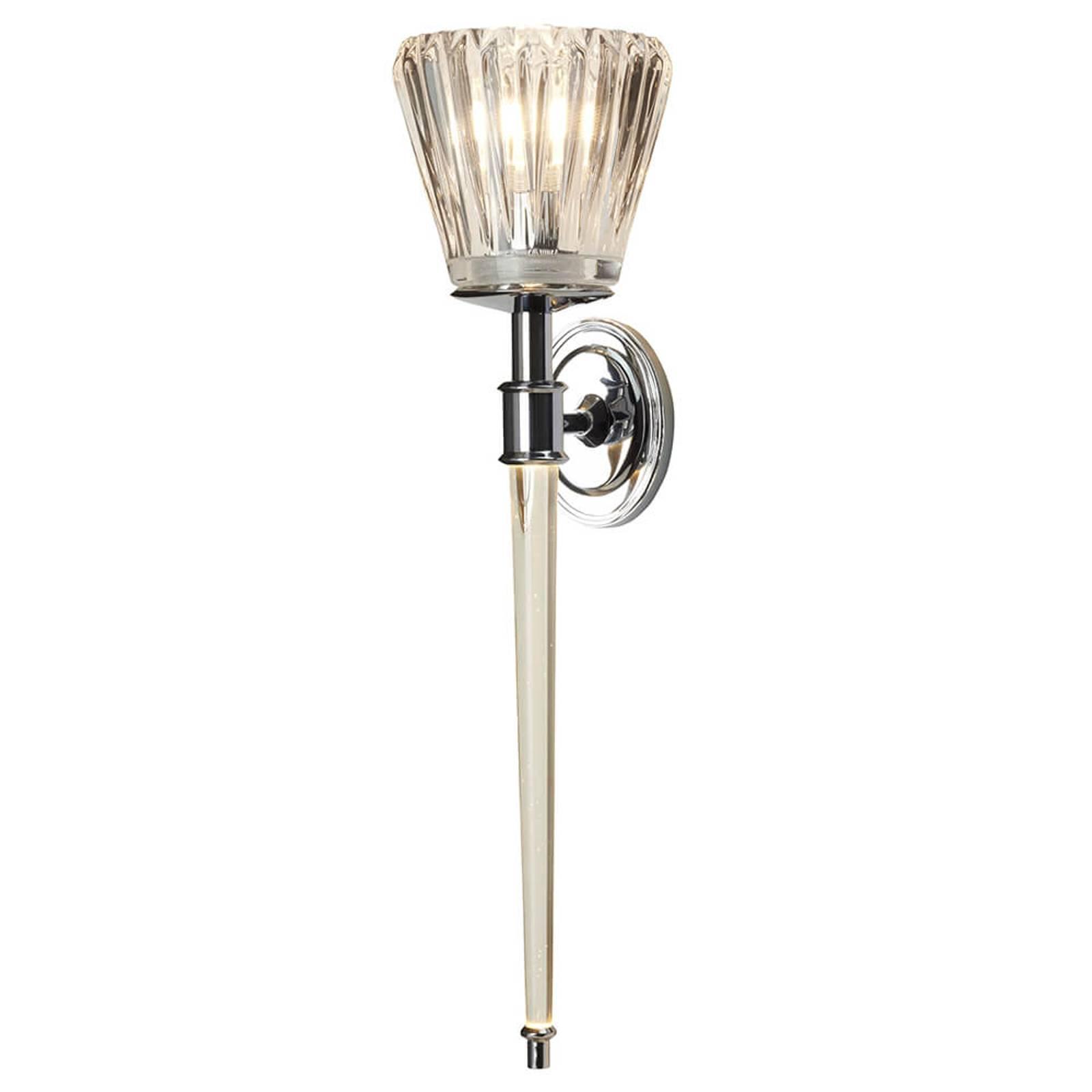 LED wandlamp Agatha, chroom