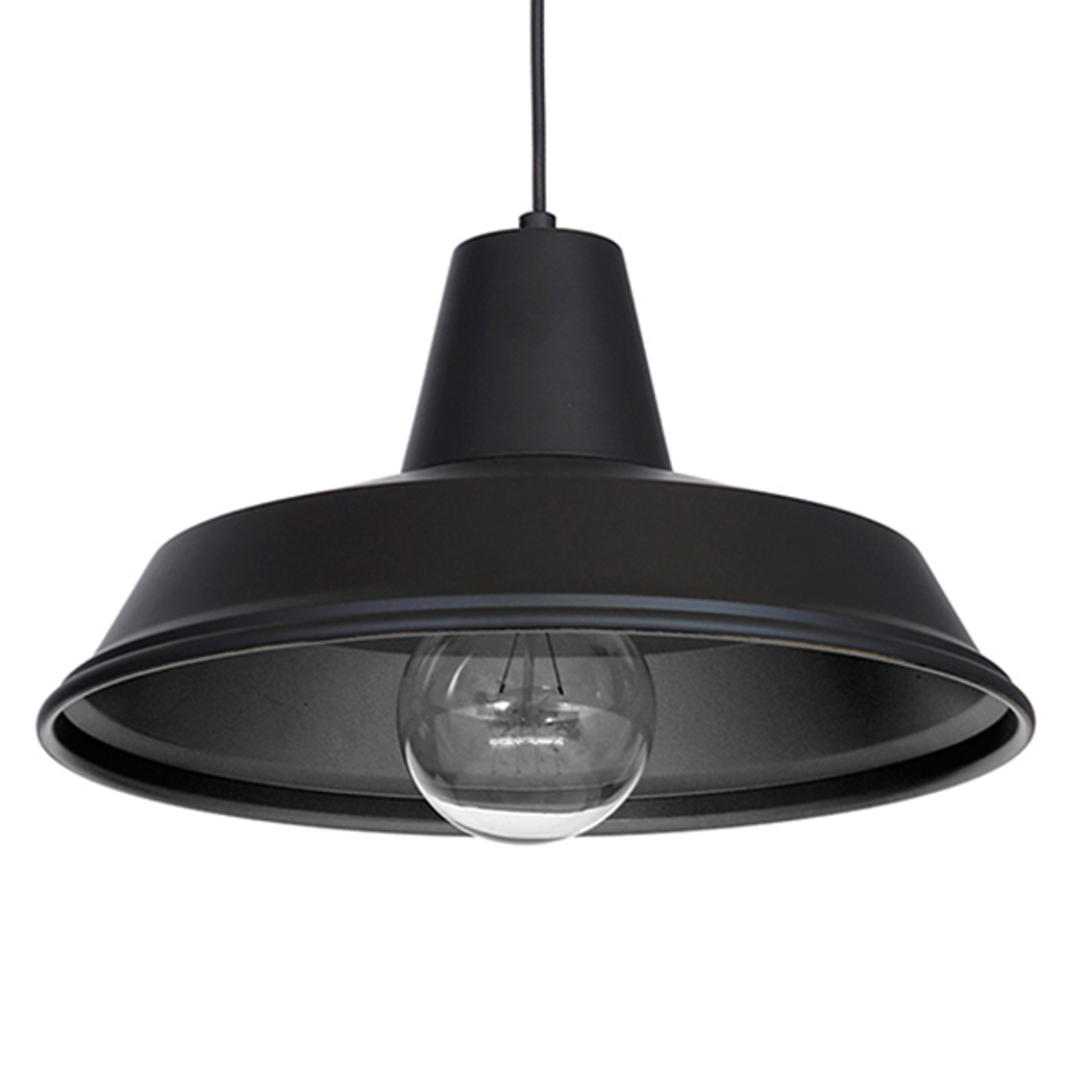 Lampa wisząca Class, czarna/czarna