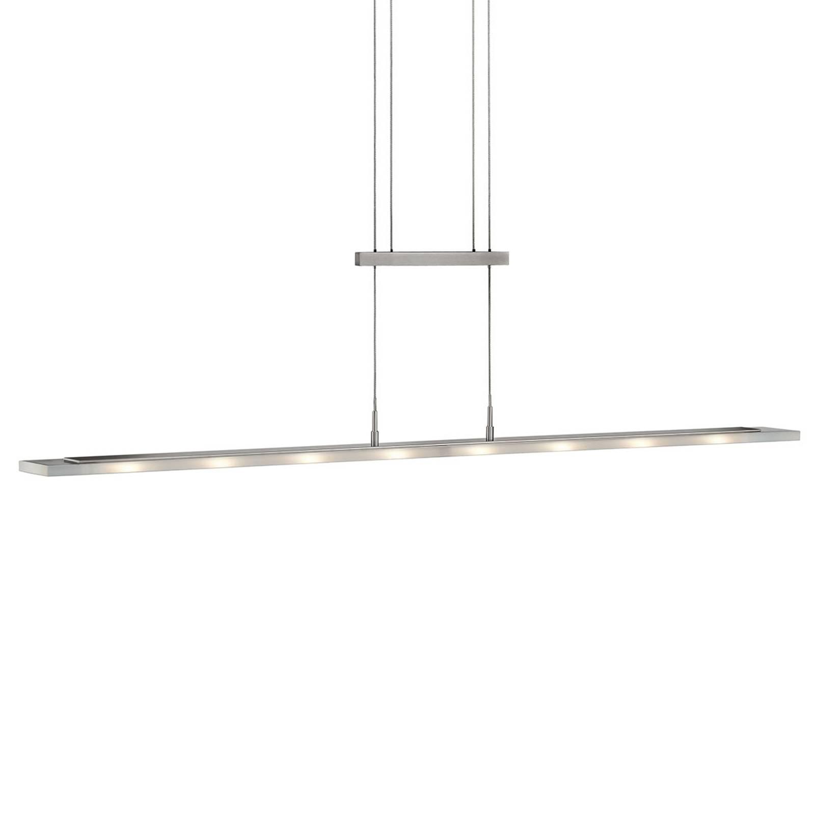 LED hanglamp Mia, dimbaar, nikkel mat