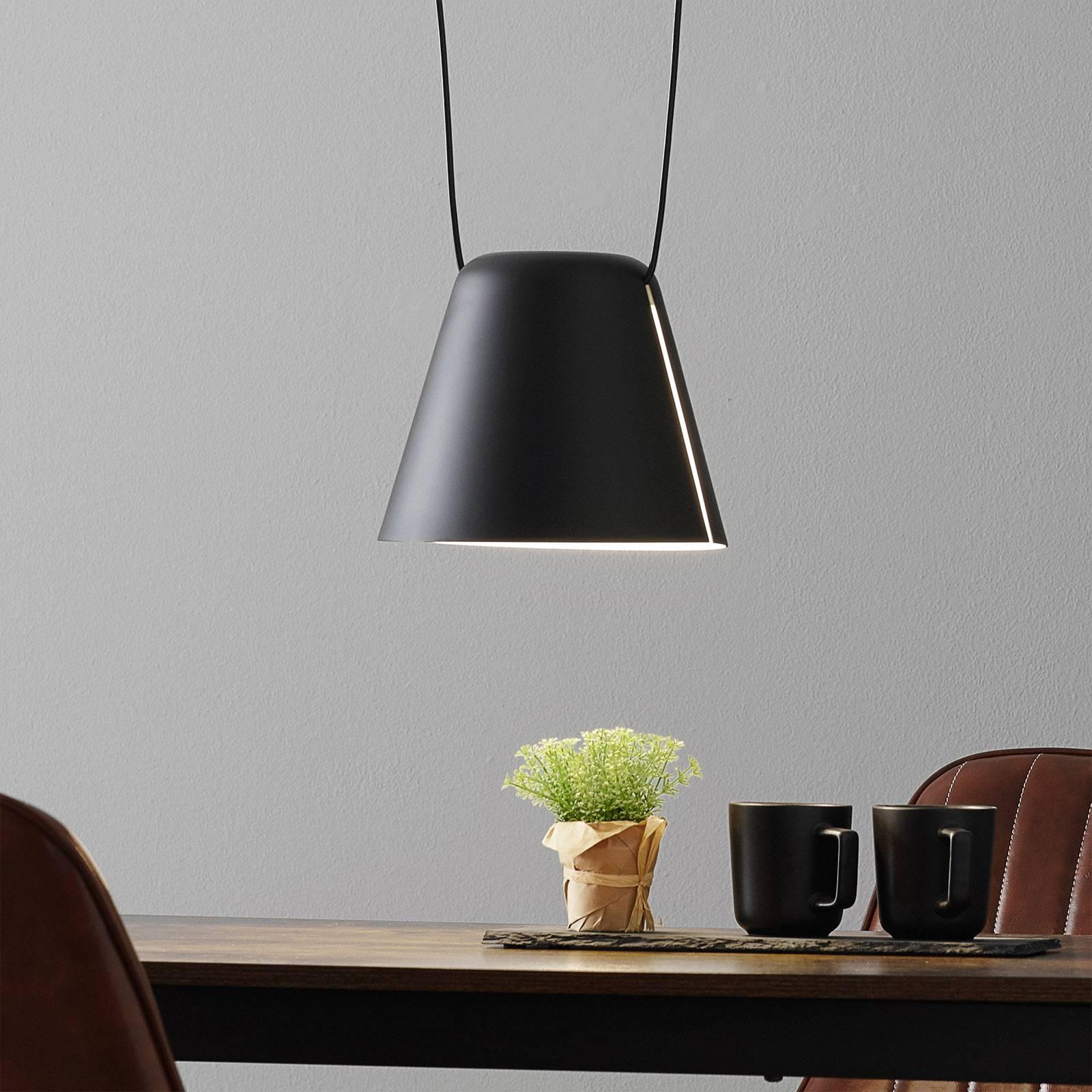 LEDS-C4 Attic hanglamp afgeknotte kegel 24cm zwart