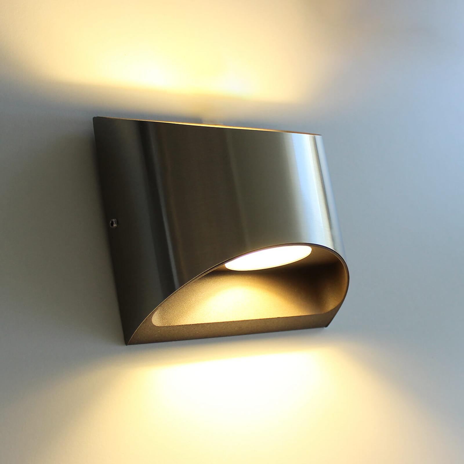 Dodd – utendørs LED-vegglampe i aluminium