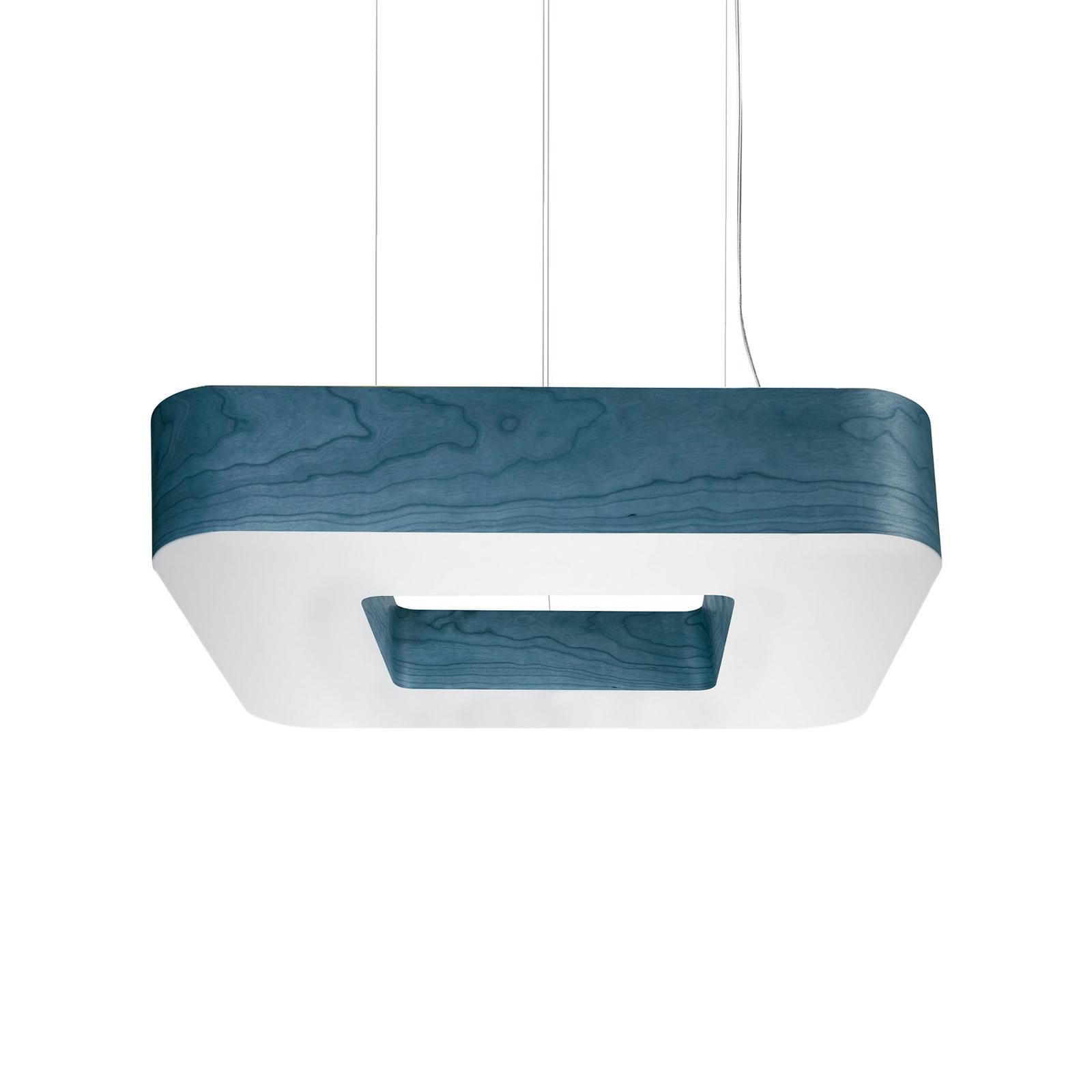 LZF Cuad LED-Hängeleuchte 0-10V dim, blau