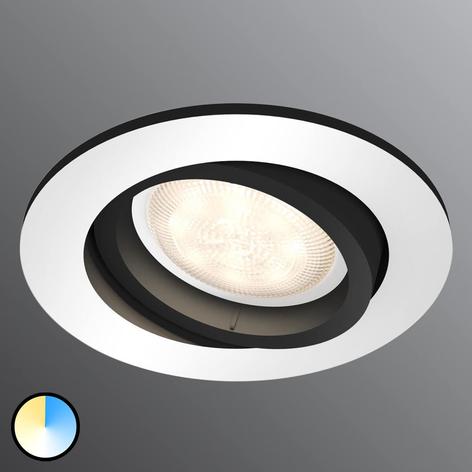 Philips Hue Milliskin spot LED, okrągły, alu