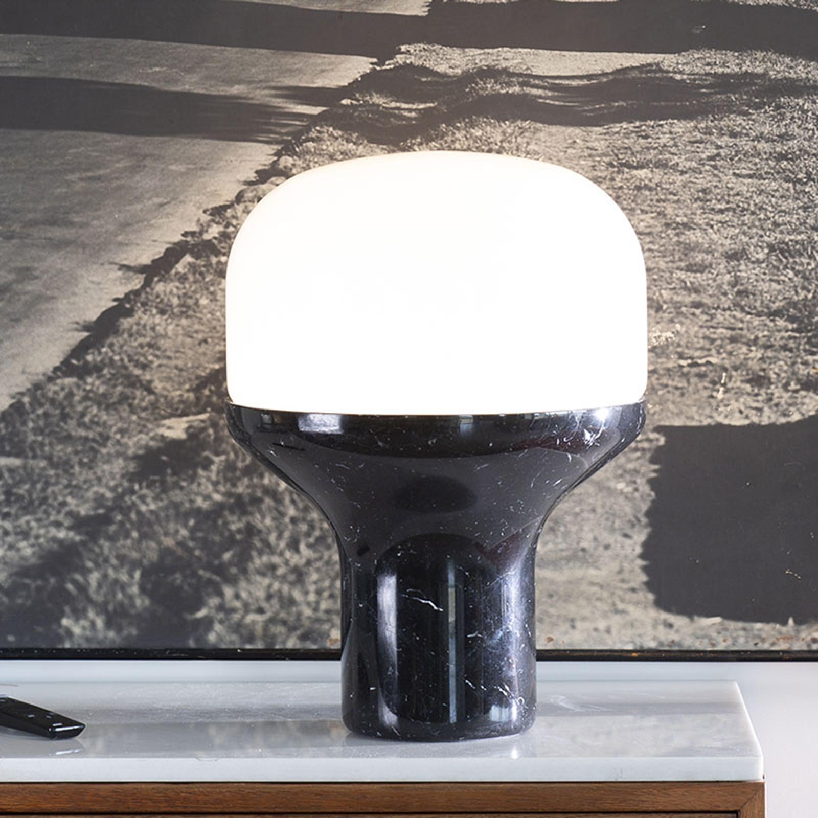 Martinelli Luce Delux Tisch 22cm Marmor schwarz
