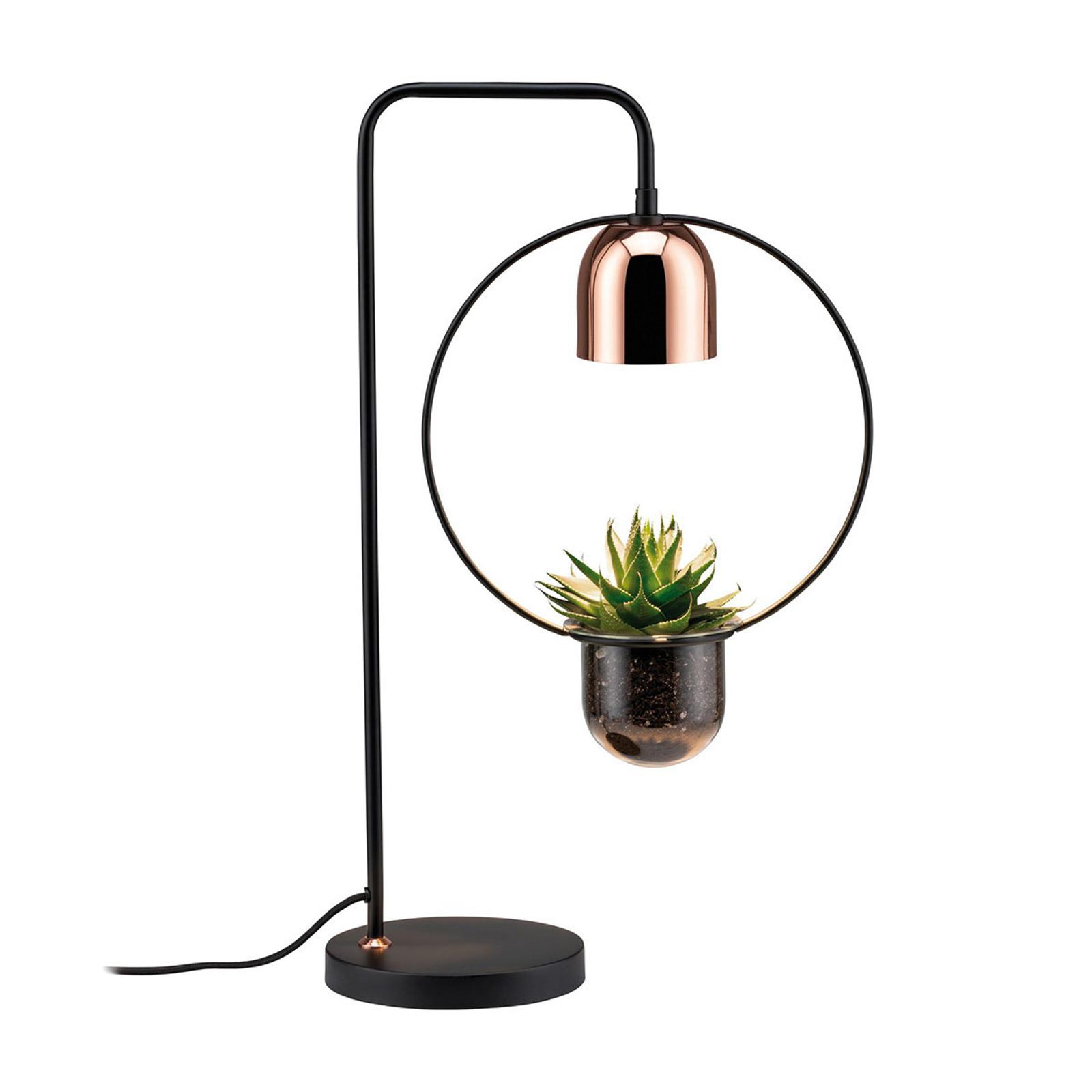 Paulmann tafellamp Fanja met plantenbak
