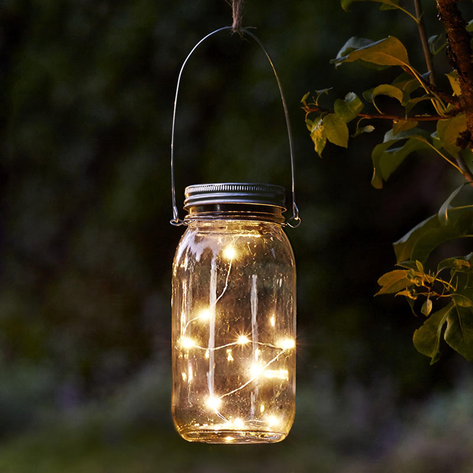 Jamjar - flot solcelle-dekorationslampe i glas