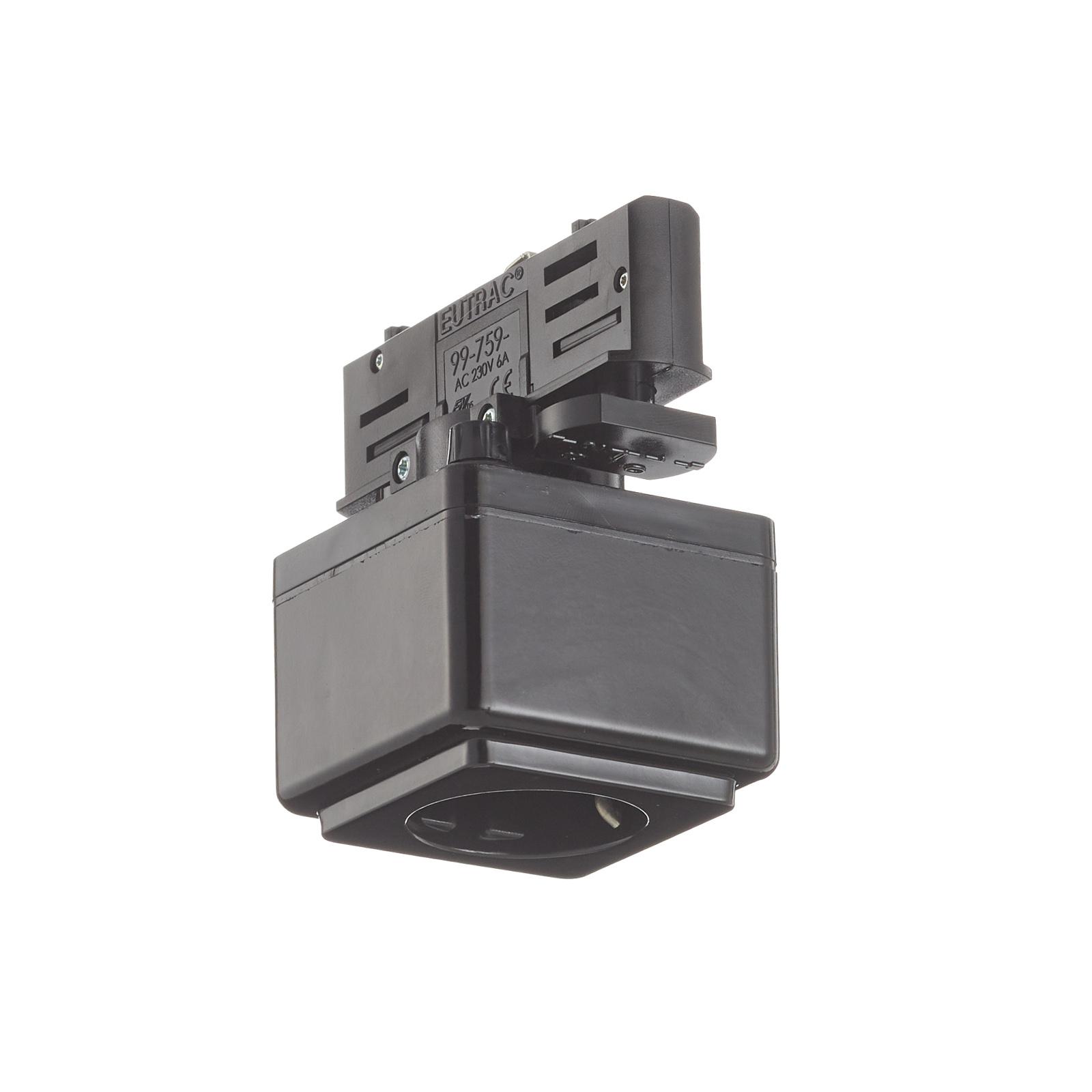 Eutrac Steckdosen Multi-Adapter 3-Phasen, schwarz