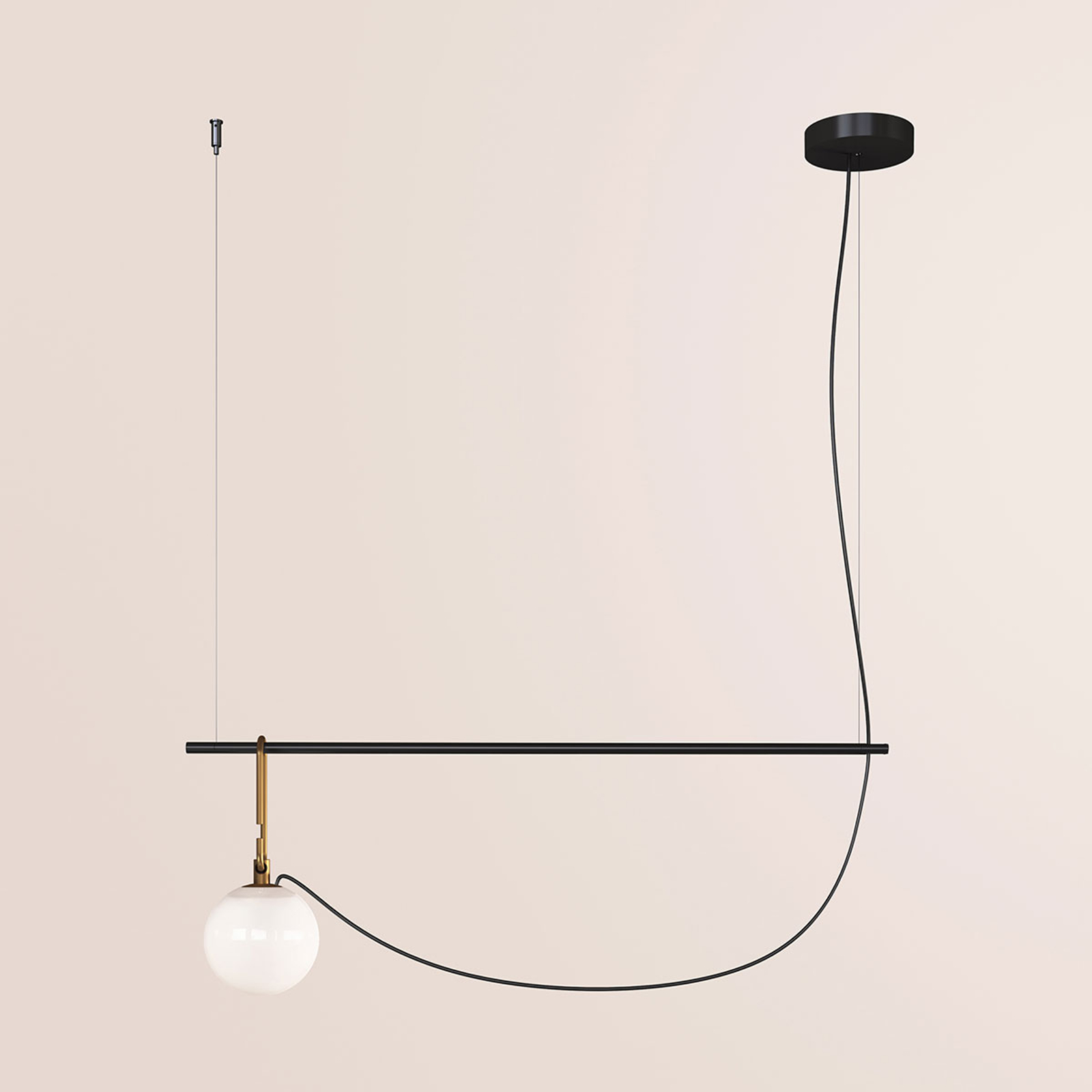 Artemide nh S2 14 lampa wisząca 90,5 cm kula Ø14cm