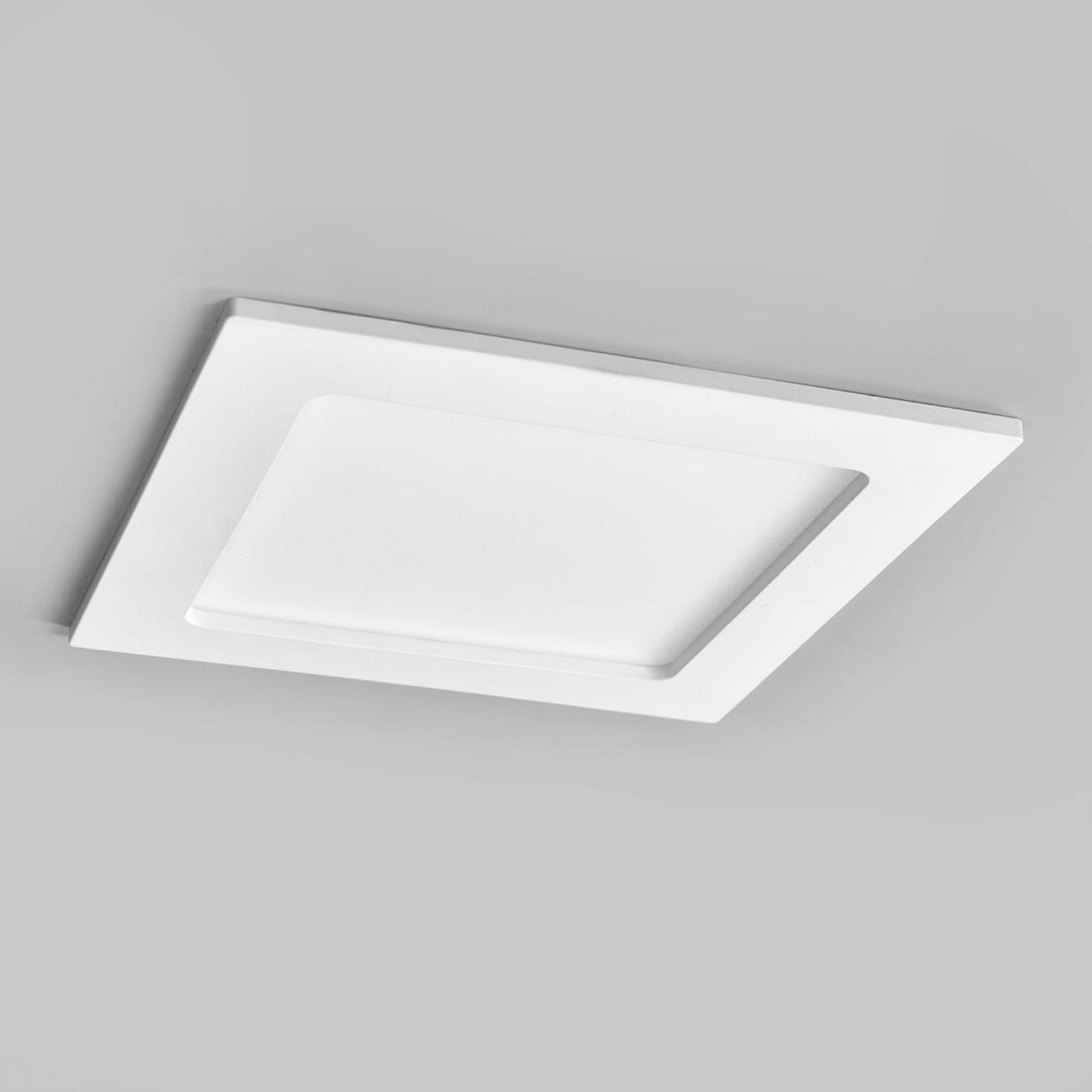 LED-indbygningsspot Joki hvid 4000K kantet 16,5cm