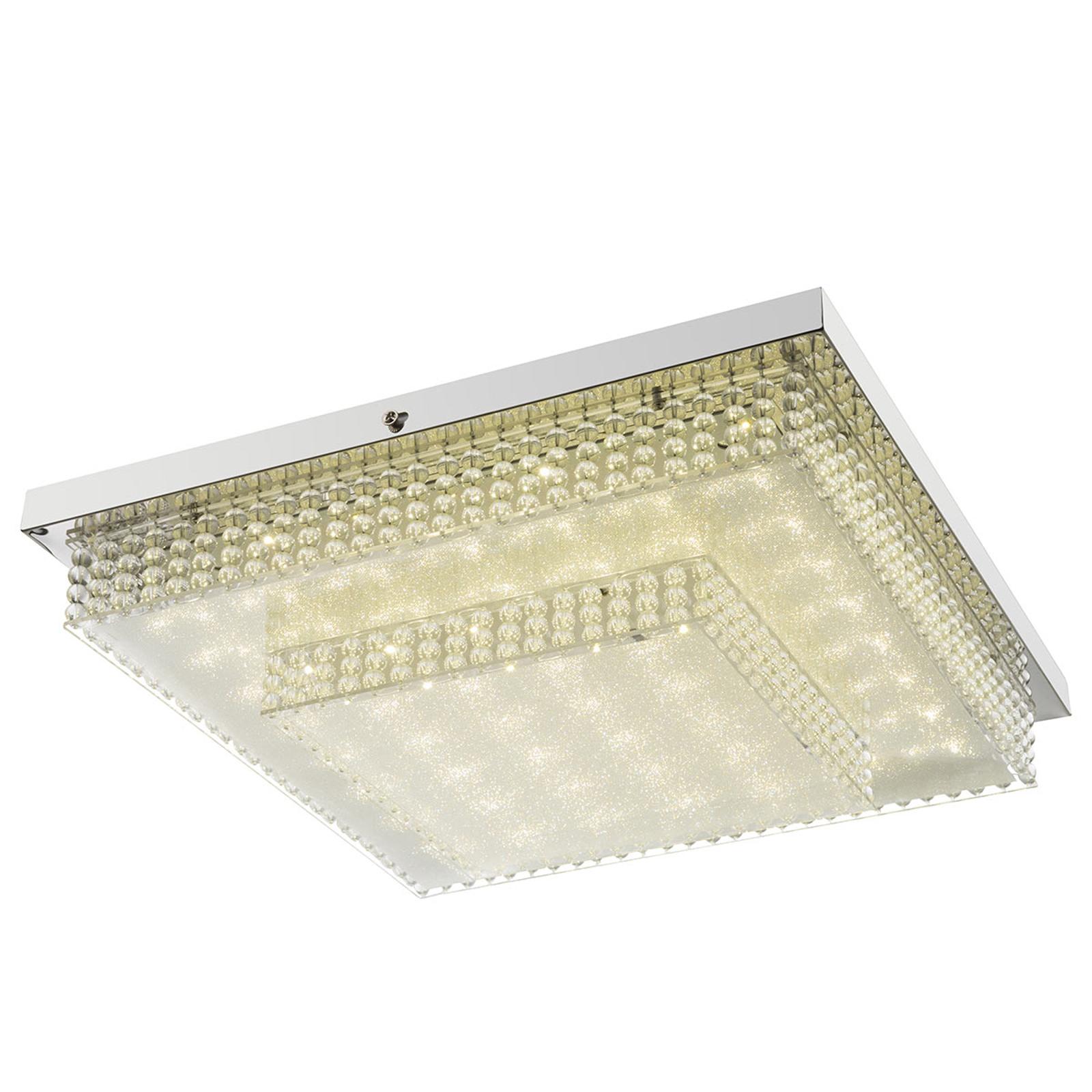 Cake I - hoekige LED plafondlamp met effectfolie
