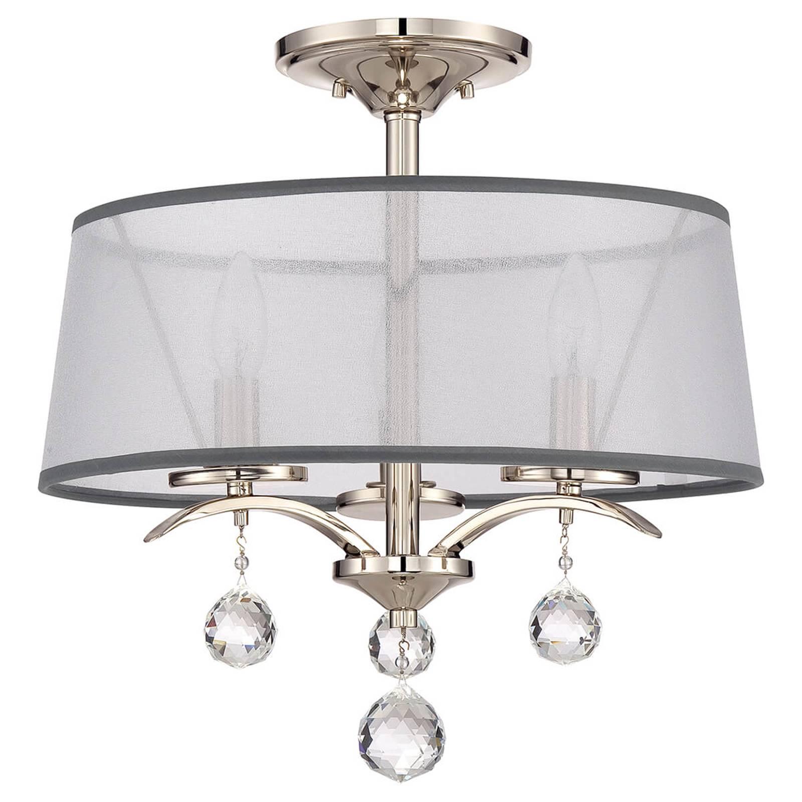 Kristal hangende plafondlamp Whitney