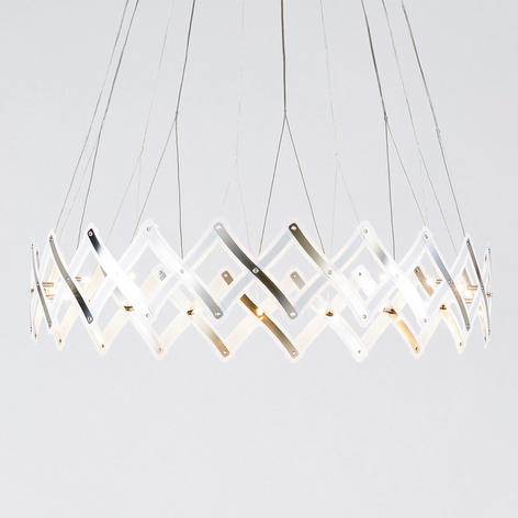 LED pendellampe Zoom, saksegitter, kan forstørres
