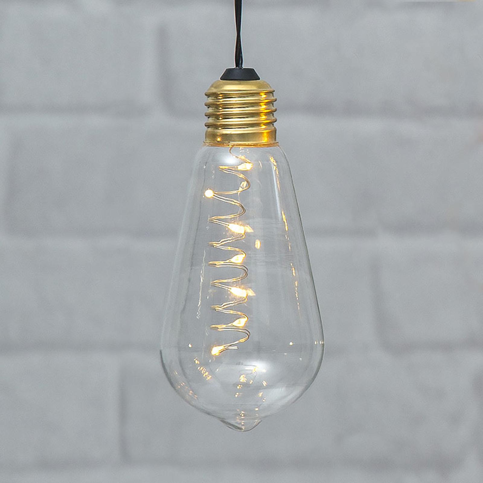 Vintage-LED-Dekoleuchte Glow mit Timer, klar