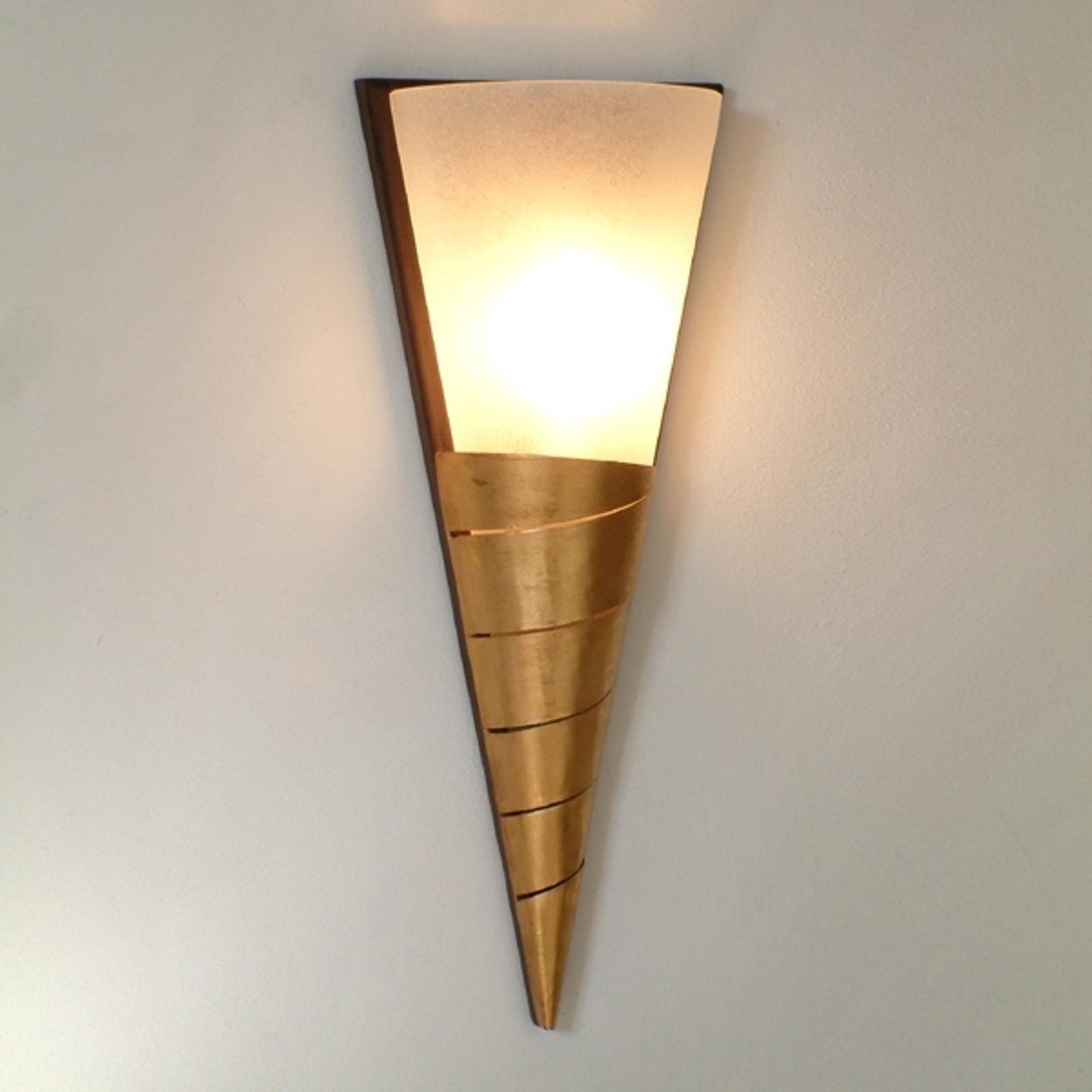 Elegante wandlamp INNOVAZIONE TRE goudkleurig