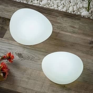 Lindby Pebbla LED-solcellsdekorationslampa 2-pack