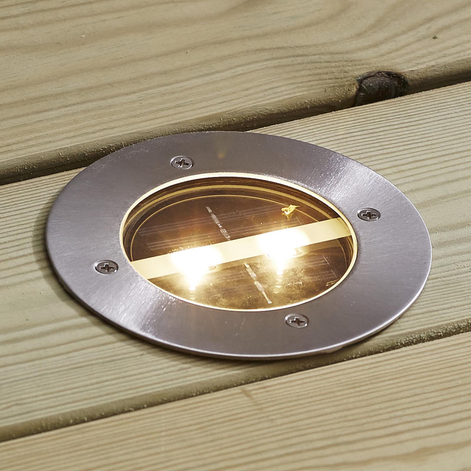 Decklight - pyöreä aurinkokäyttöinen LED-uppovalo