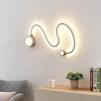 Lindby Rion LED-vägglampa, nickel