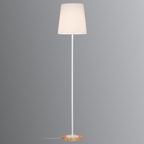Paulmann Stellan lampadaire abat-jour tissu blanc