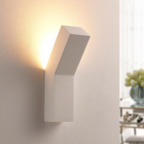 Gipsowa lampa LED Tida, oświetlająca ścianę