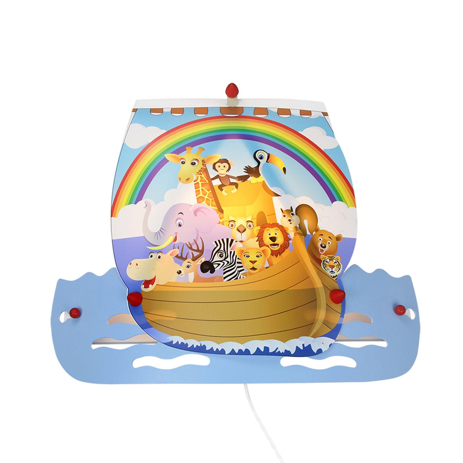 Lampa ścienna Arka Noego jasnoniebieska, z wtyczką