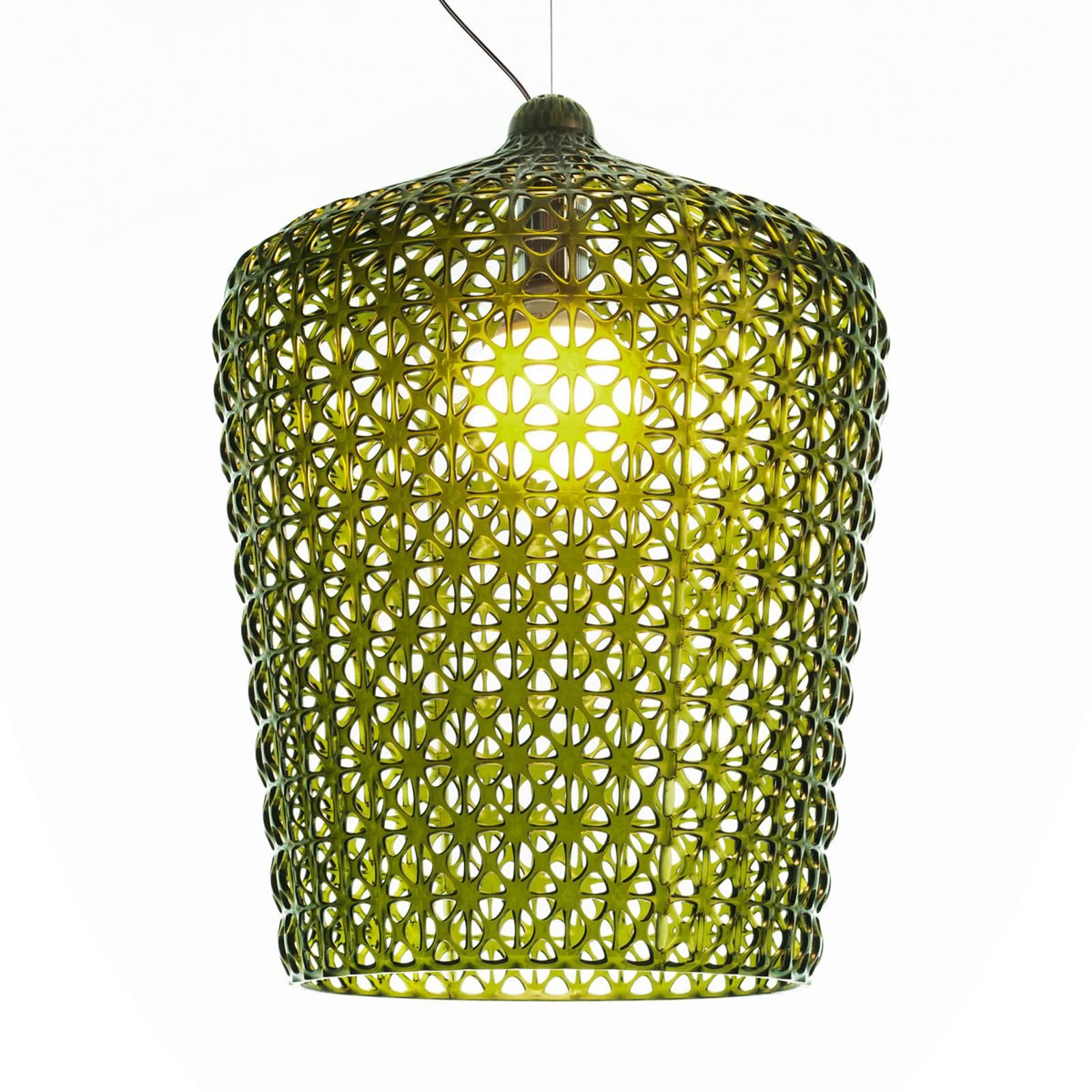 Designerska lampa wisząca Kabuki, zielona