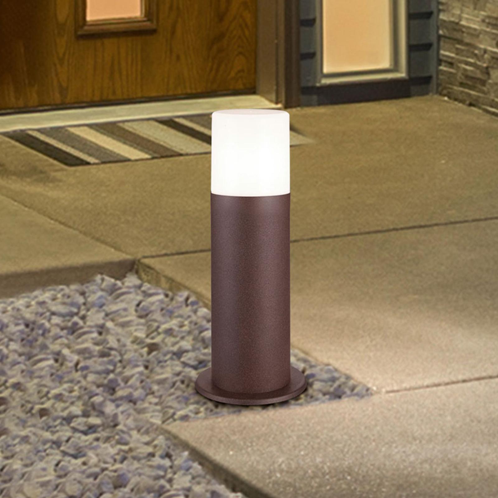 Hoosic sokkellampe af trykstøbt aluminium, rust