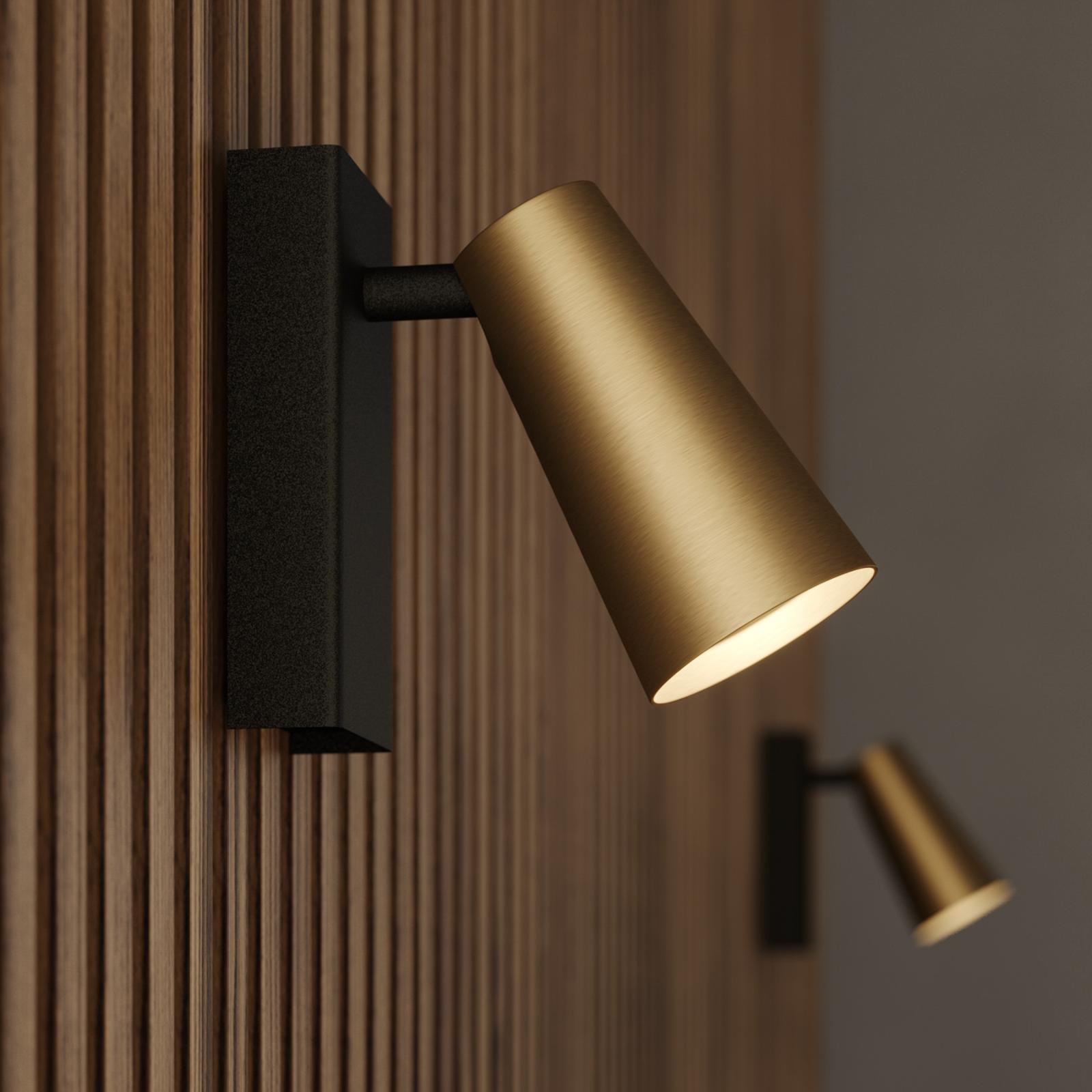 Lucande Angelina bodové světlo, mosaz-zlatá, 1žár.