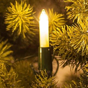 Guirlande avec petites bougies, blanc, 30 lampes