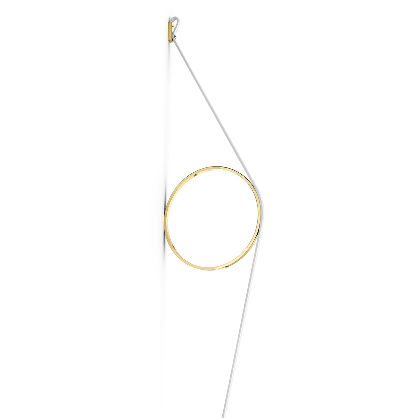 FLOS Wirering Weiß LED-Wandleuchte Ring gold