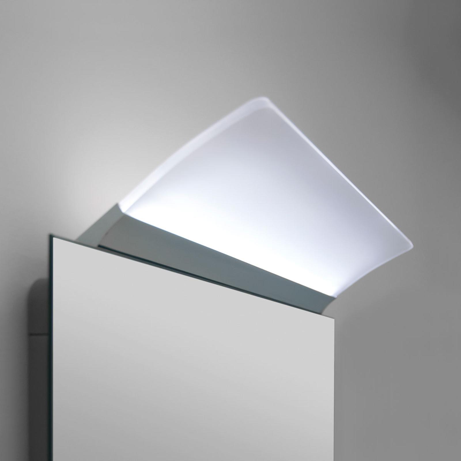 Ploché zrkadlové LED svietidlo Angela, IP44, 30 cm