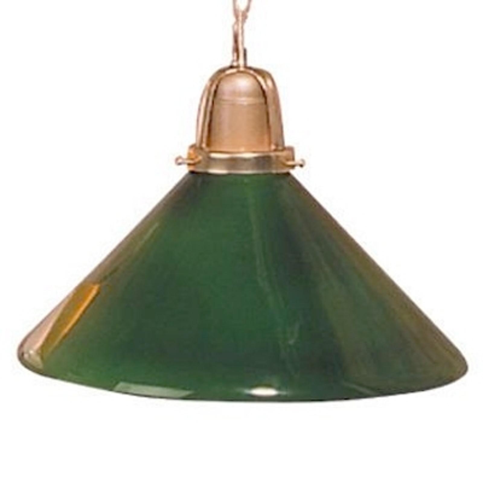 Värikäs SARINA-riippuvalaisin, vihreä