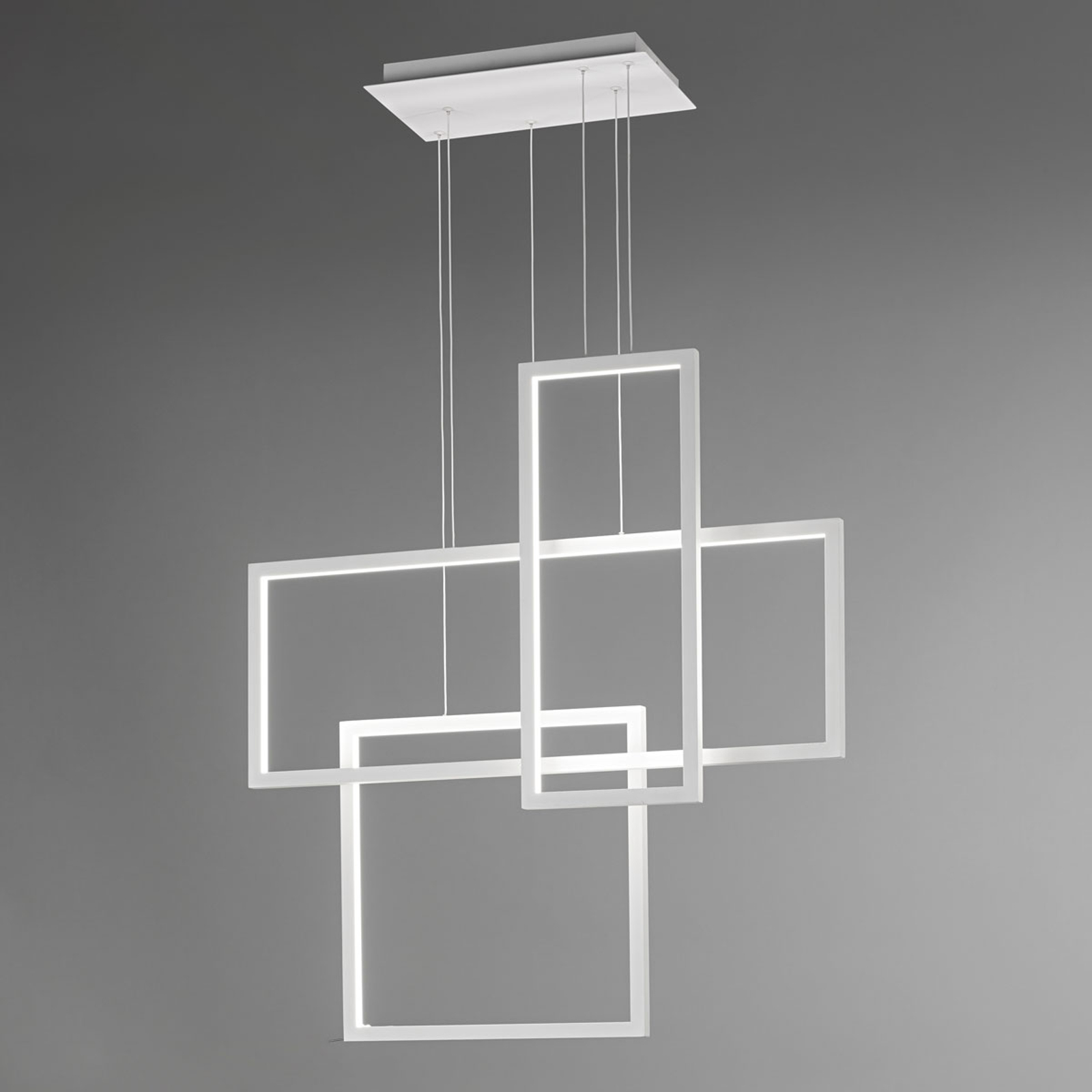 Suspension LED Cross avec trois rectangles