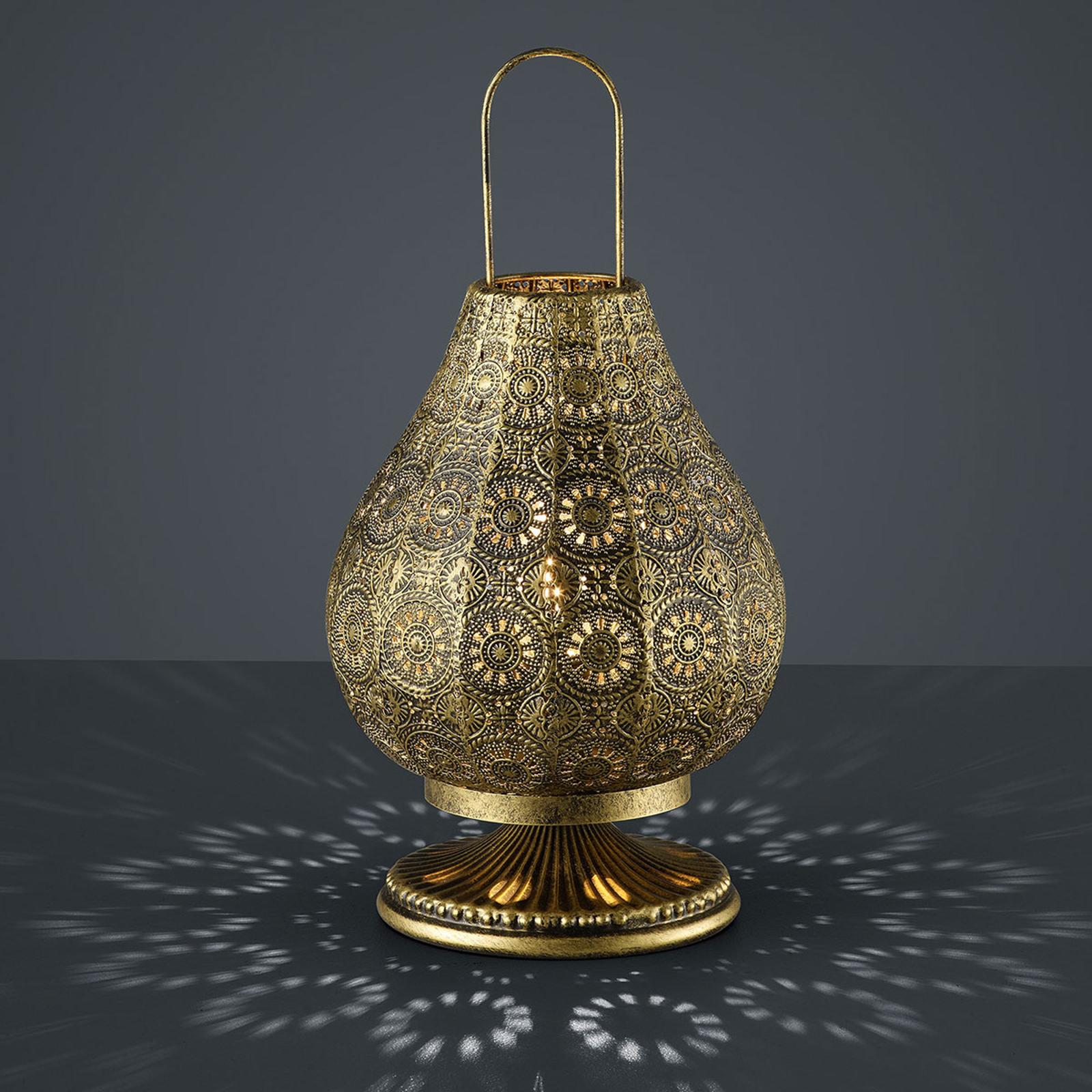 Jasmin - lámpara de mesa en diseño oriental, latón