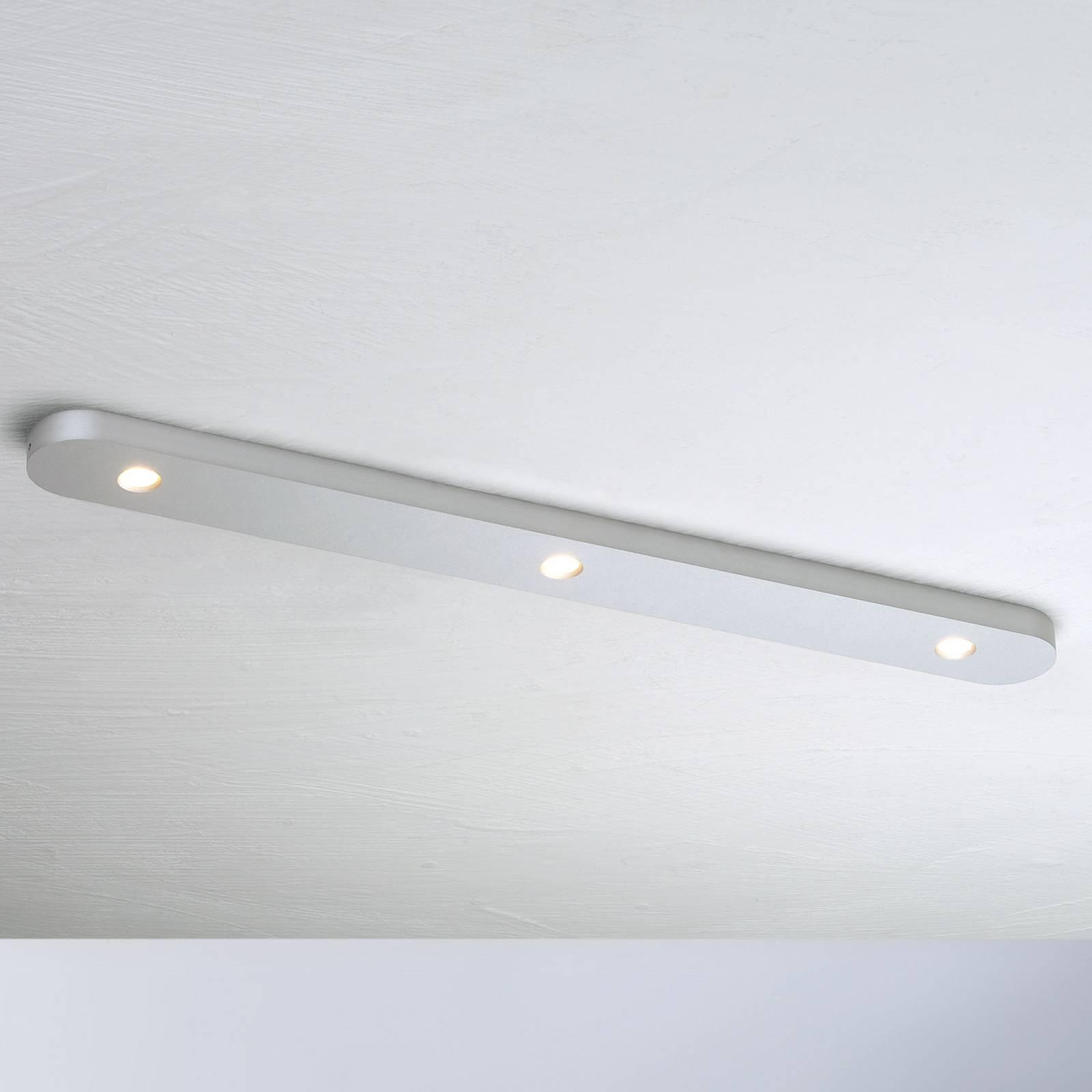 Bopp Close LED plafondlamp 3-lamps alu