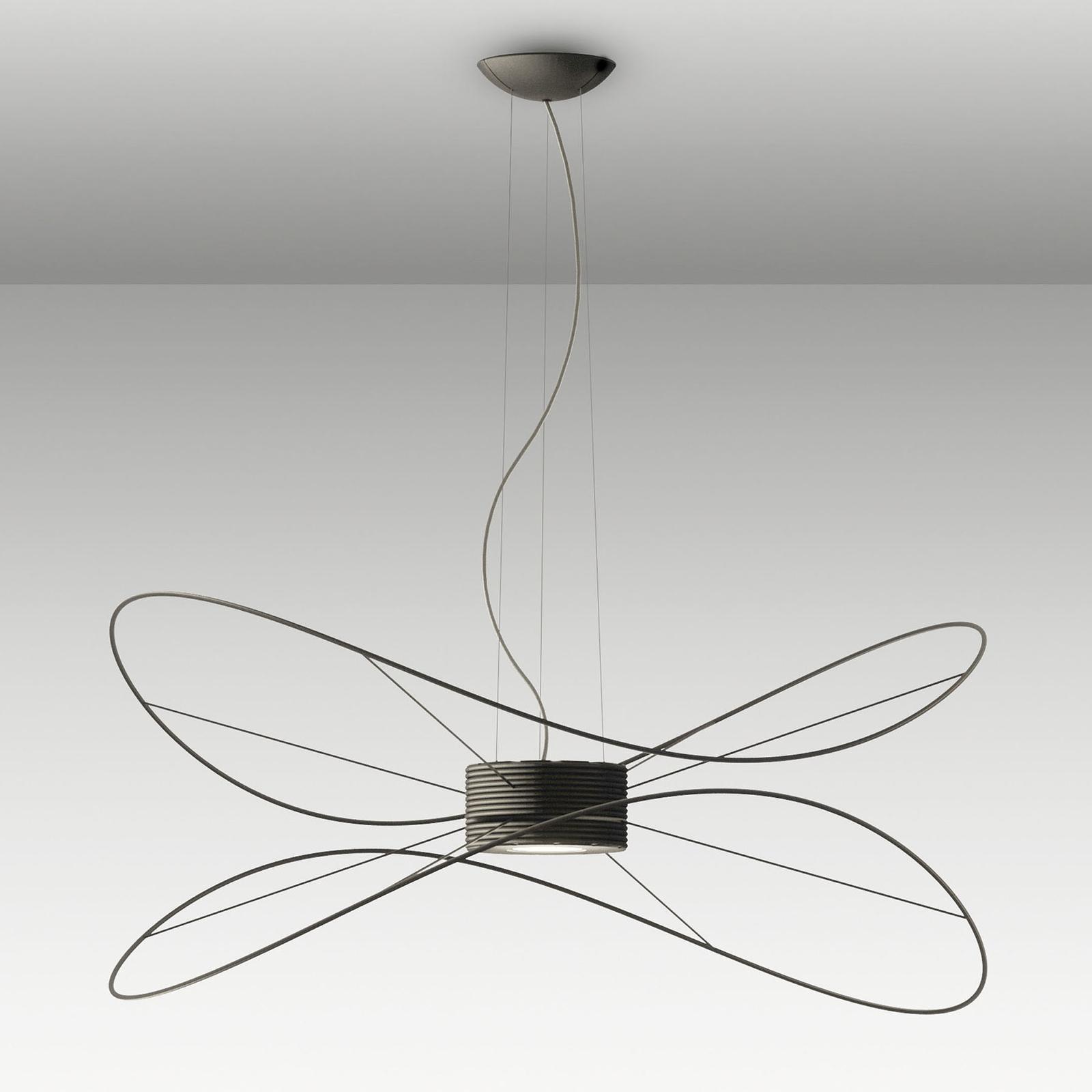 Axolight Hoops 2 LED hanglamp, zwart