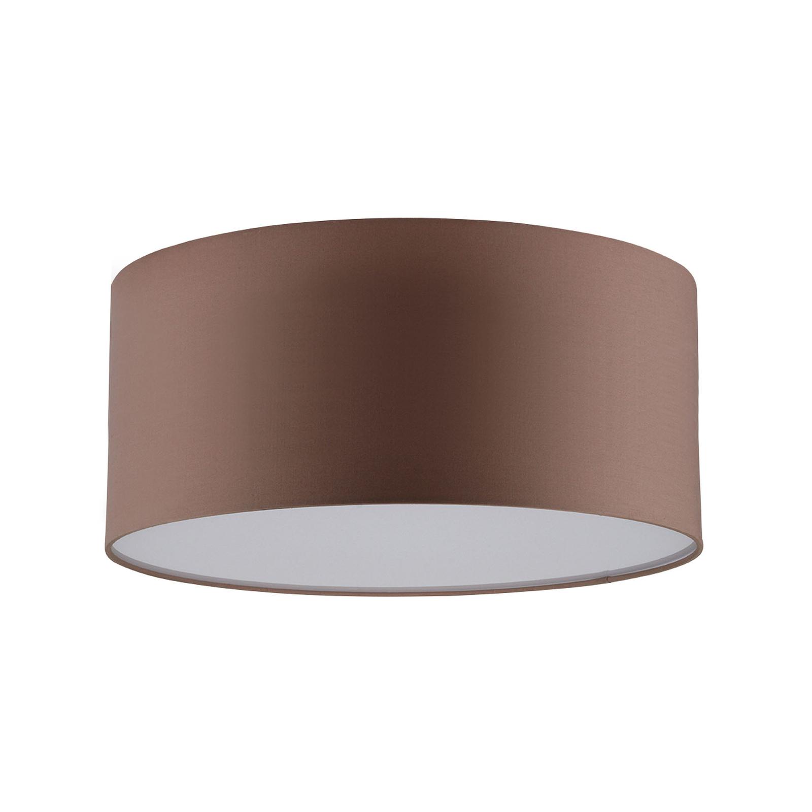 LED-taklampe Josefina, Ø 28 cm, brun