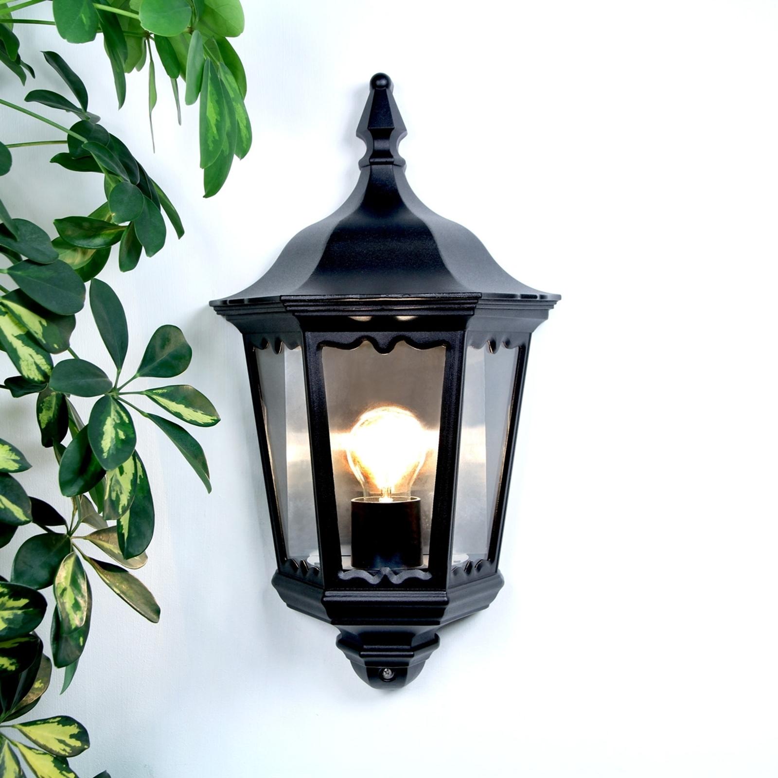 Buitenwandlamp Lieva, zwart