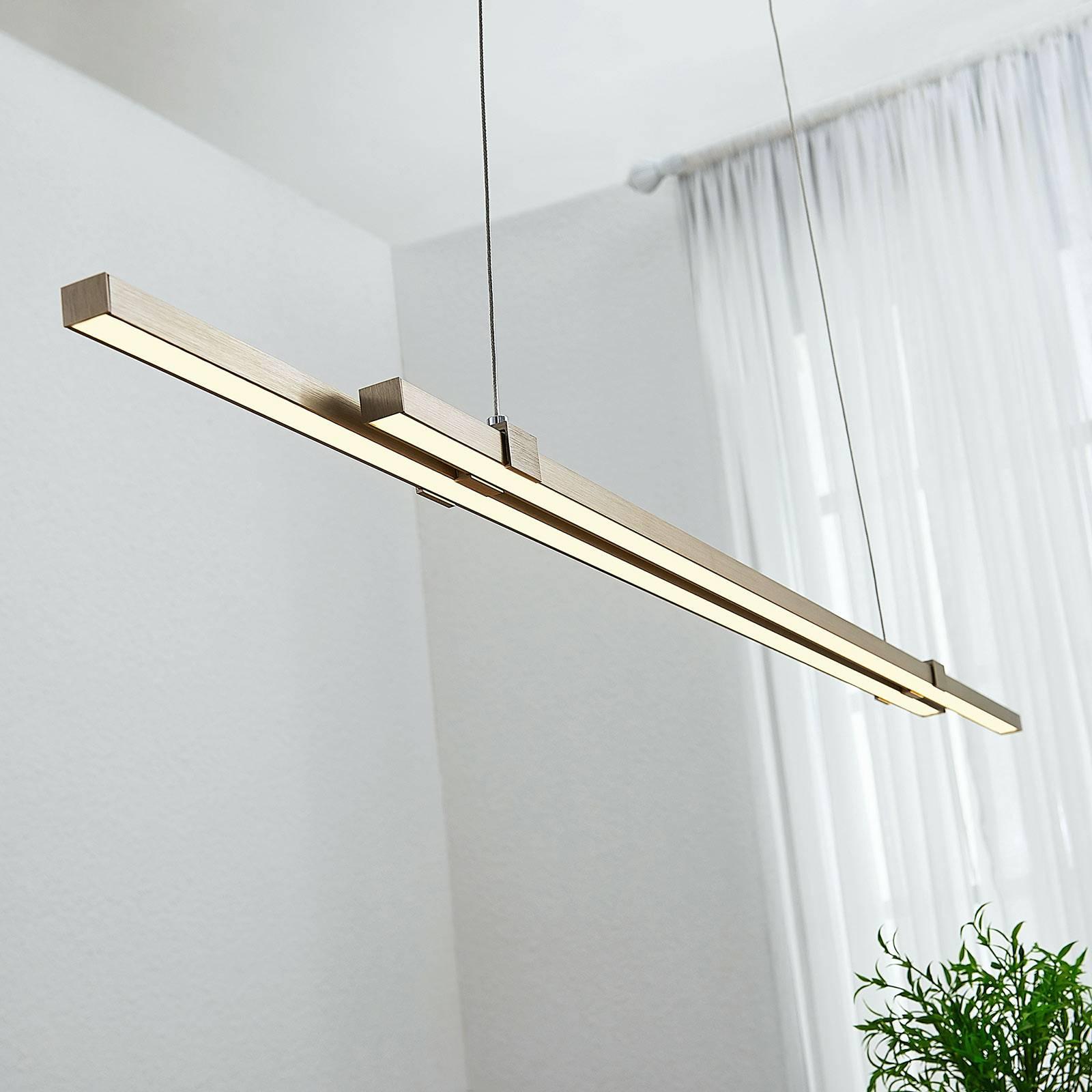 LED balkhanglamp Tymon, smal, uittrekbaar