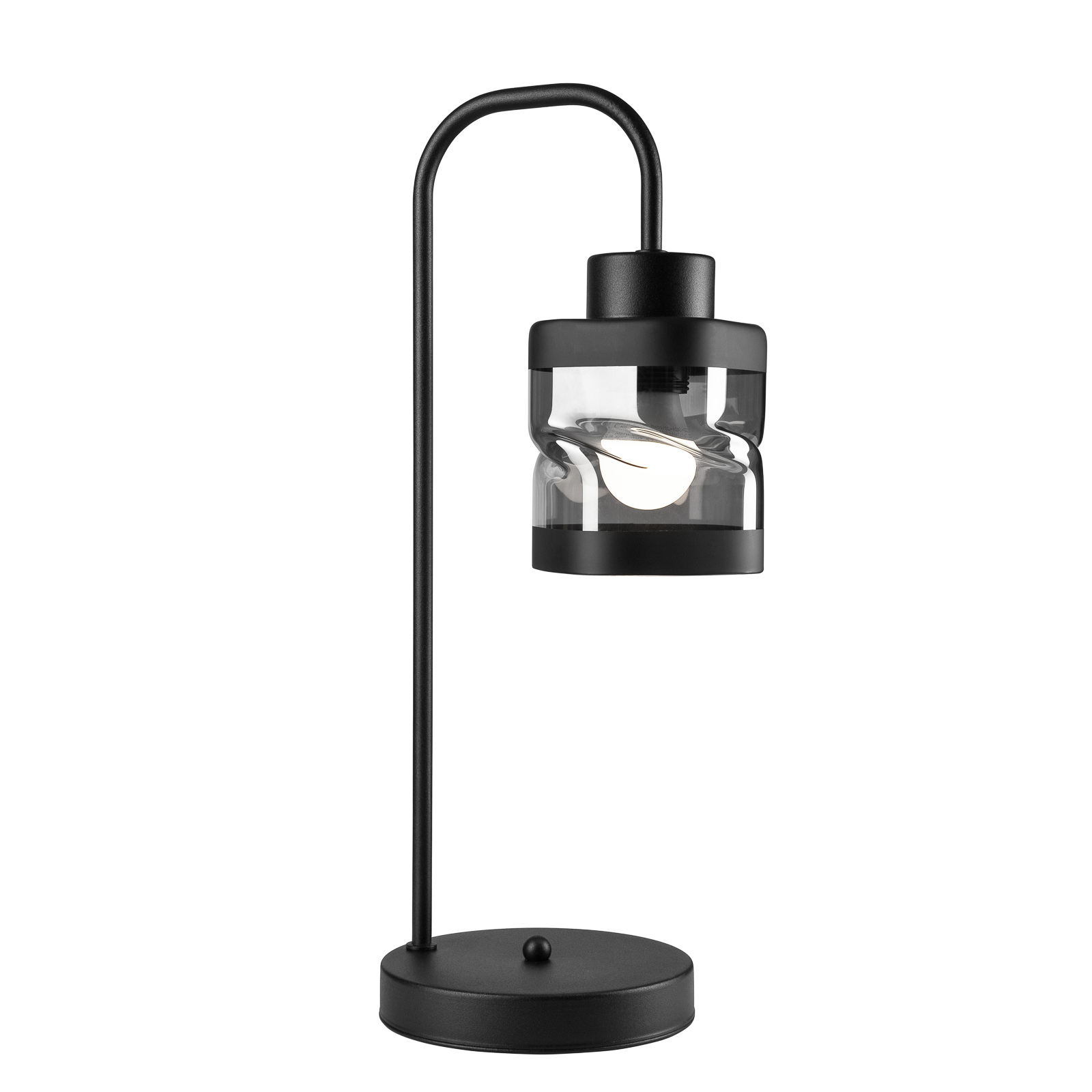 Lampa stołowa Thor kształt latarni z metalu