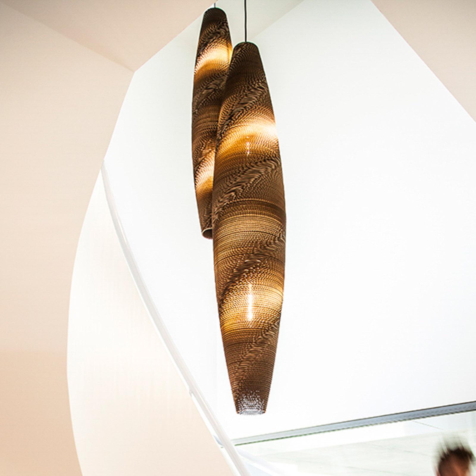 SEGULA Skinny lampa wisząca kartonowy klosz Ø 29cm