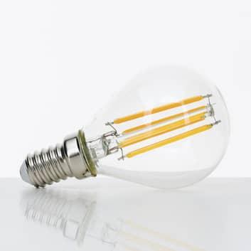 LED-dråbepære E14 4W filament klar 827, kan dæmpes