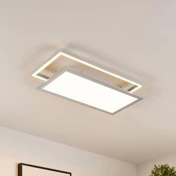 Lucande Senan LED-Deckenlampe, rechteckig