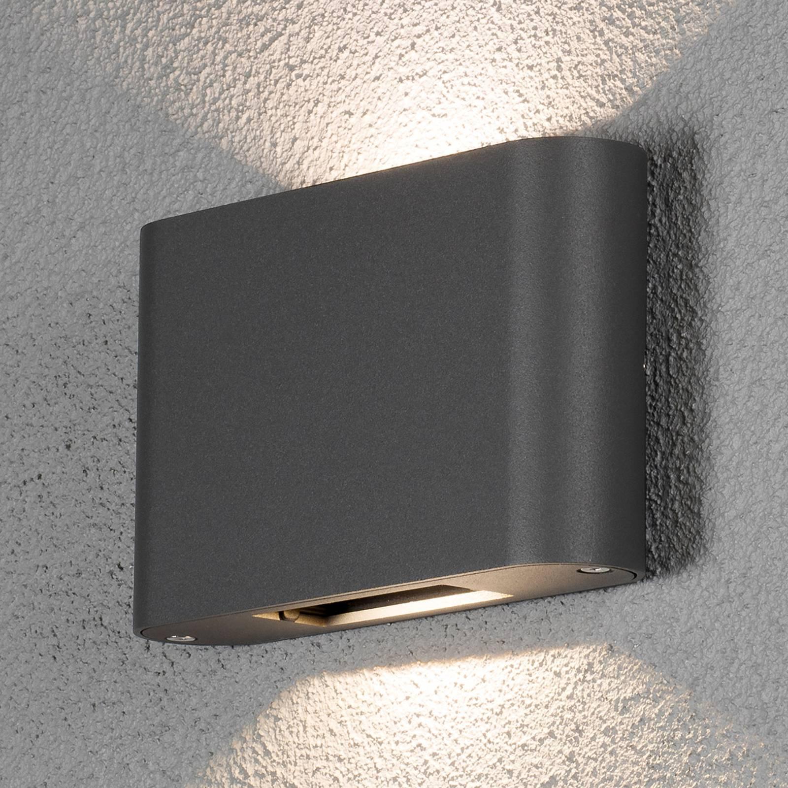 Applique d'ext. LED Chieri 2 l. 18cm anthracite